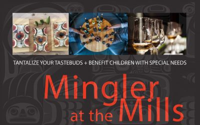 Announcing Mingler at the Mills Fundraiser